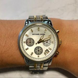 Michael Kors Mk5057 Two-tone Chronograph Watch